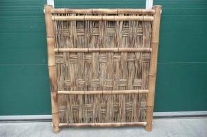 Gevlochten afsluiting bamboe
