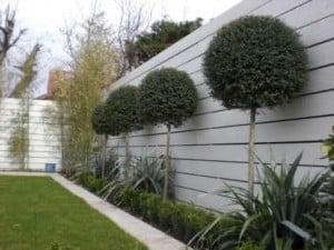 Moderne tuinafsluiting