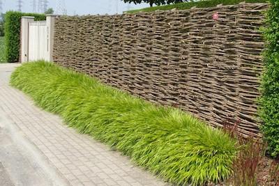 Omheining tuin potplanten buiten schaduw for Moderne afsluiting tuin