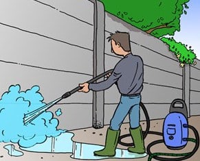 Reinigen en onderhoud van betonplaten
