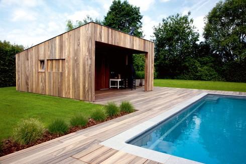Maak sfeer met hout in je tuin tuinafsluitingen for Maak een overdekt terras