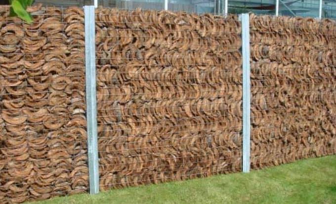 Steenkorven gevuld met kokos © Ecohout.be